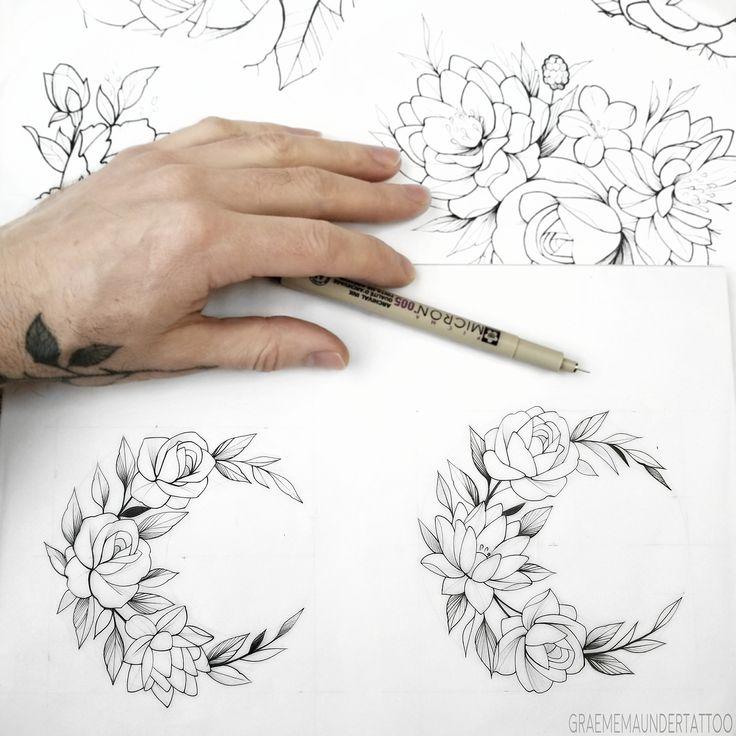 Rose and Lotus floral designs.  (Graeme Maunder Vancouver B.C.) #vancouvertattoo #flower #calgarytattoo #montrealtattoo #winnipegtattoo #edmontontattoo #torontotattoo #copenhagentattoo #Vancity#Vancouver #tattoo #tattoos #tattooed #Art #artist #inked #illustration #love #saigontattoo #flowertattoo #floraltattoo #lotus #rose