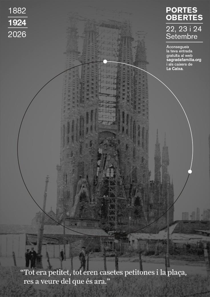 1924 // Campanya Portes Obertes, Puertas Abiertas, Open Days 1882 | 2026 Sagrada Familia #design #barcelona #sagradafamilia #photography