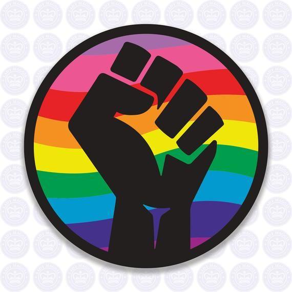Raised Fist Rainbow Mug Decal Set Equality Solidarity Etsy In 2021 Rainbow Decal Rainbow Bumper Sticker Equality Bumper Sticker