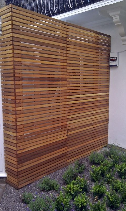 cedar modern privacy fence, I would do it as a side wall inside.