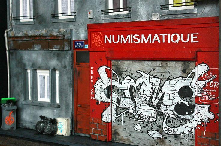 graffiti dioramas by Benjamin Affagard