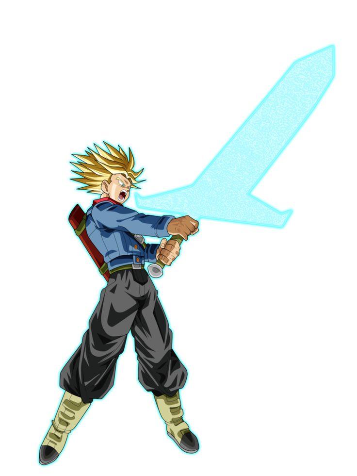 """La """"nueva transformación"""" ya que no se si es una nueva transformación o una variación de mi personaje favorito de todo Dragon Ball, Trunks del futuro"""