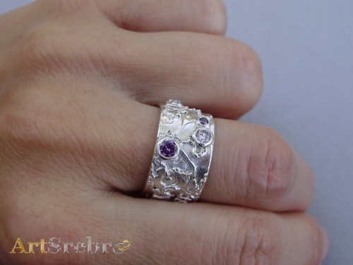 Silver ring-Clematis