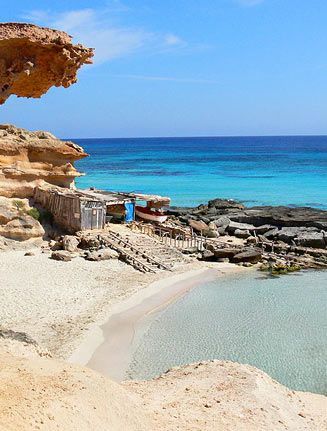 Formentera an island off of and Near Ibiza. This beach is called Calo des mort Formentera is a rec from David & Valeri