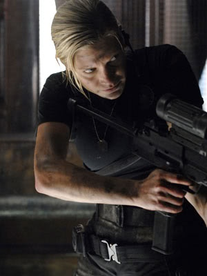 Oh how I frakkin lurve her. So say we all! Kara Thrace aka Starbuck aka Harbinger of Death
