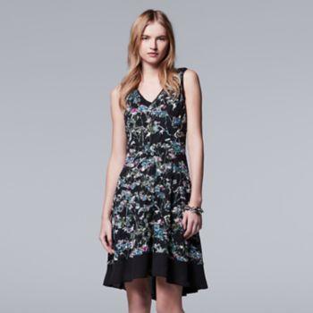 Women's+Simply+Vera+Vera+Wang+Print+Fit+&+Flare+Dress