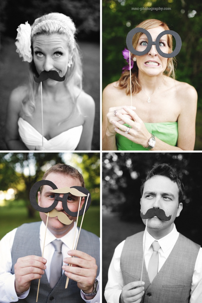 Fun photo booth props! #wedding #midwest