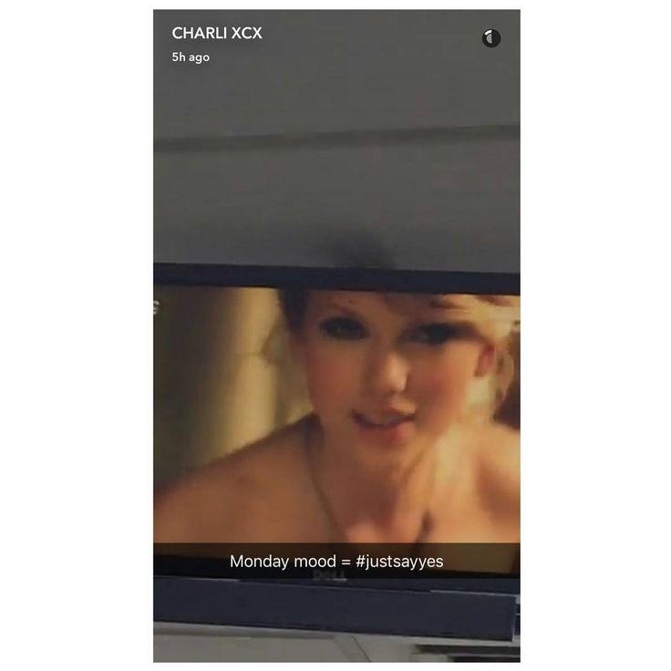 Charli XCX's Snapchat story is her watching the 'Love Story' music video!