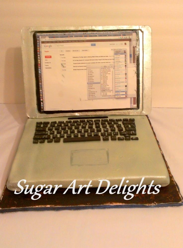 Mac book pro cake