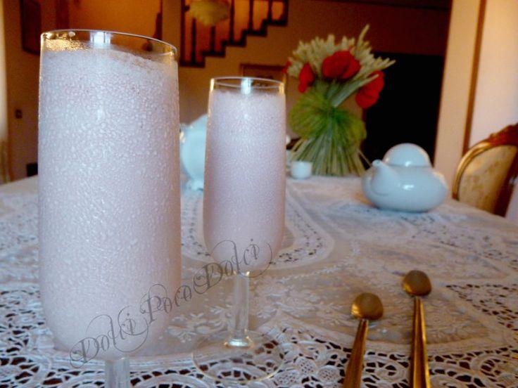 Sgroppino analcolico ricetta con frutta latte e derivati, un sorbetto da bere cremosissimo e gustoso, una bevanda facile e veloce ottima anche per bambini !