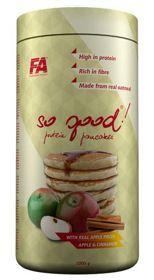 Białkowe naleśniki owsiane FA Nutrition SO GOOD jabłko-cynamon 1 kg. Produkt całkowicie pozbawiony, tłuszczu, cukru i laktozy. Metapure™ Zero Carb zawiera wyłącznie najwyższej jakości wyizolowane białko serwatkowe. Preparat nie zawiera apsartanu. #odzywkabialkowa #bialkowenalesniki #suplementdiety #silownia