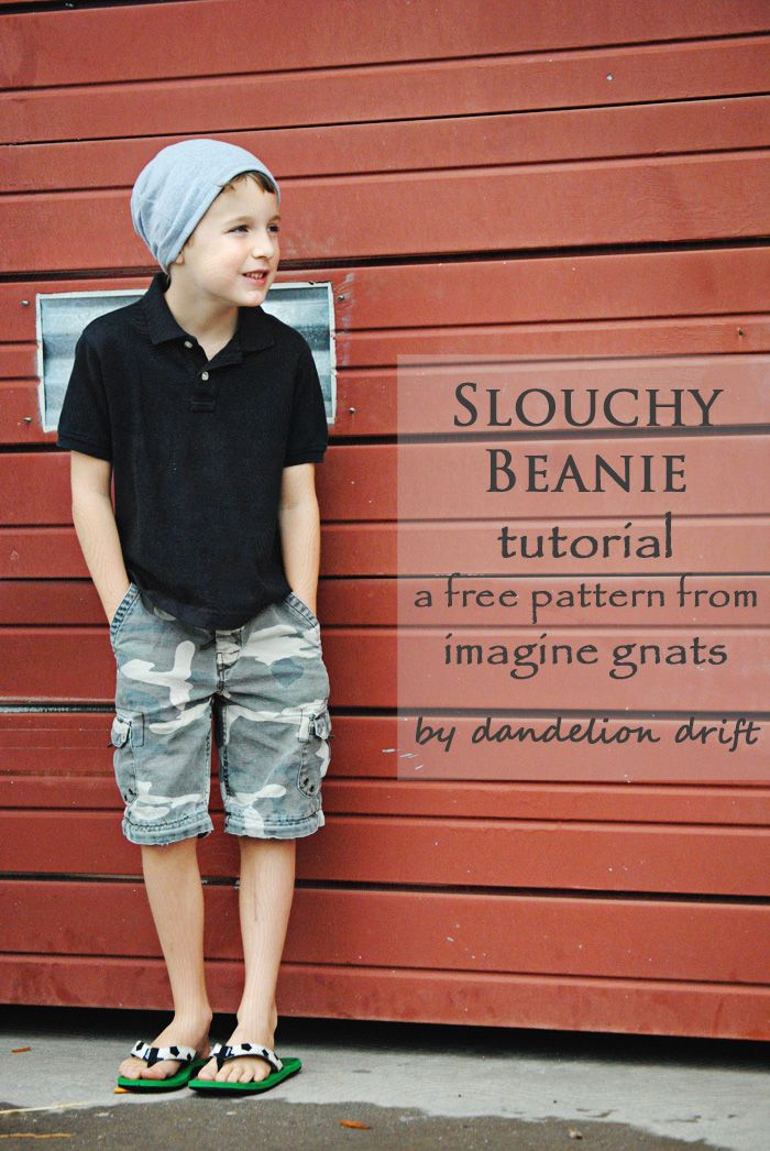 sew: slouchy beanie free pattern for babies, kids, and adults    imagine gnats