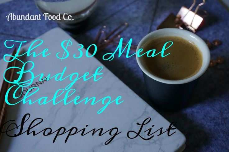 Save money on your grocery shopping with the $30 meal budget challenge shopping list. This shopping list contains all the ingredients you will need to buy.