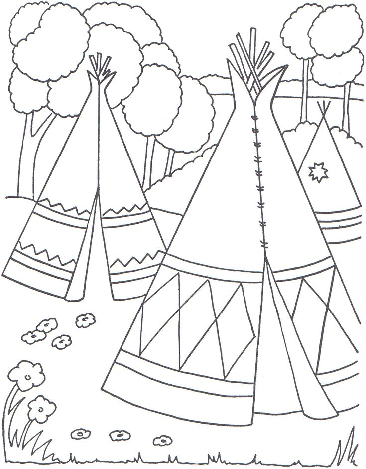 Cowboys and Indians Coloring Pages | Indian Coloring Pages - Coloringpages1001.com