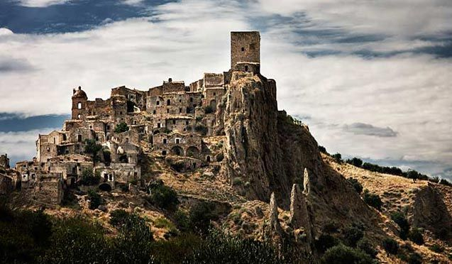 Craco, Italy  ...Abandoned Medieval Village