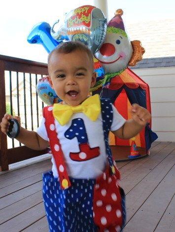 Circo / tema Carnevale baby Clown vestito di CuteCraftingCorner