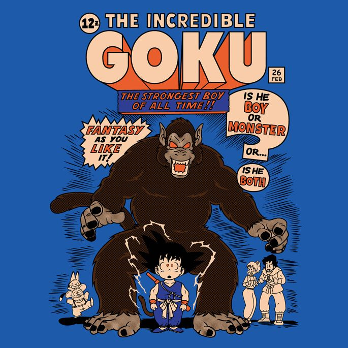THE INCREDIBLE GOKU T-Shirt $10 Dragon Ball tee at ShirtPunch today only!
