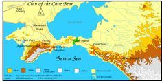 """6B. The Land: """"Map of the area in 'Clan of the Cave Bear'...by Jean Auel."""""""