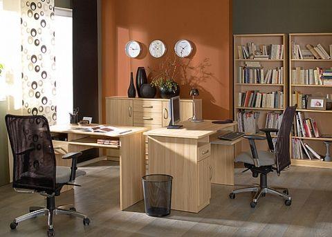 Pracovňa - Black Red White - Klio 1  Ak hľadáte jednoduchší, funkčný, no moderný nábytok, skúste modelovú radu Klio. Vyznačuje sa svojou univerzálnosťou a farebnou neutrálnosťou. Jednotlivé komody, skrine, skrinky, stolíky, či poličky sú nielen praktické a poskytujú potrebný priestor, ale svojim svetlým prevedením sa hodia do všetkých miestností vašich domácností.