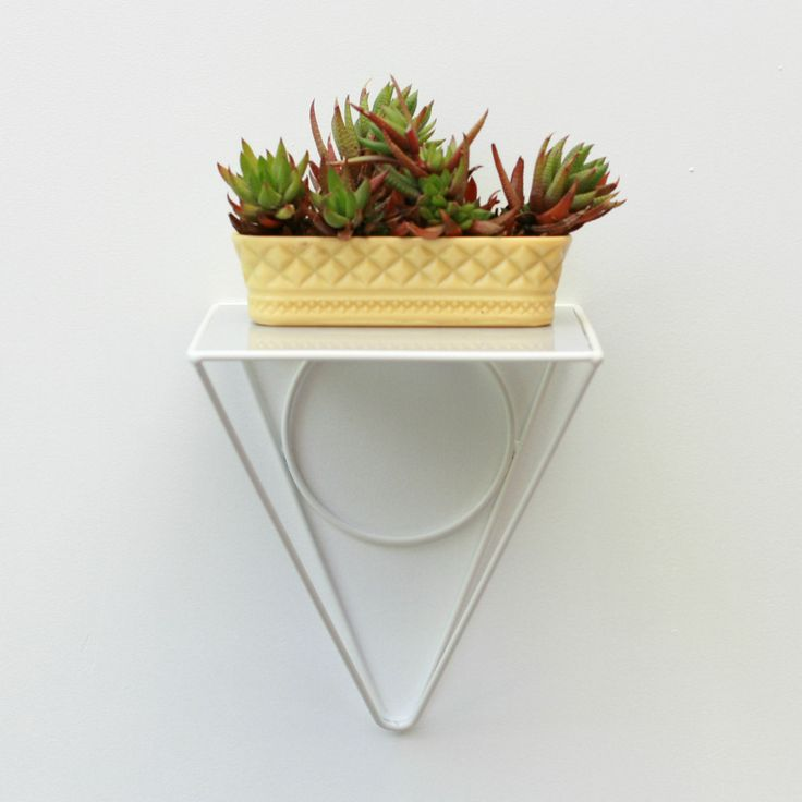 Wirely metal wire and perspex shelf in white - wirelyhome.com