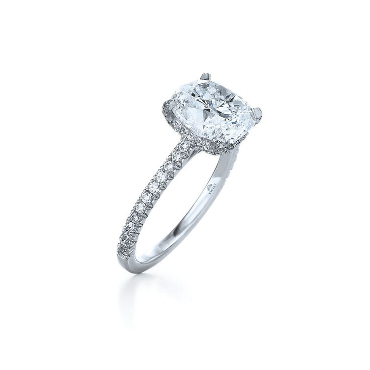 Kwiat Cushion Diamond Ring in a Platinum Pave Setting with a Floating Basket  See more at: http://www.kwiat.com/fine-diamond-jewelry/cushion-diamond-ring-platinum-pave-setting-floating-basket/p/58207/99/0/0#sthash.N1RjyoKd.dpuf