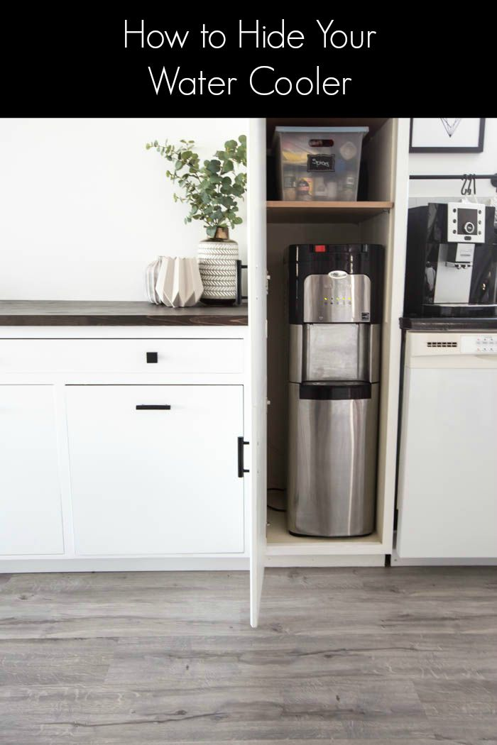 Our Hidden Water Cooler Love Create Celebrate Kitchen Cabinet Storage Storage Cabinets Inside Cabinets