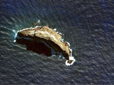 """""""Ball's Pyramid."""" It's what's left of an old volcano that emerged from the sea about 7 million years ago."""
