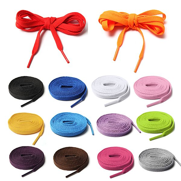 """14 Kinds Of Colourful Athletic Shoe laces For Sport Sneakers Flats    Price:$3.74  Buy Now Add to Cart  Description: Material:Polyester Style:Fashion,colourful Color:Witer,Black,Red,Brown,Yellow,Gray,Orang,Deep Purple,Light Purple,Pink,Sky Blue,Peach,Olive-Green,Royalblue Product Features: 14 colors available,suit for various people,different shoes. Perfect for casual shoes,sneakers,athletic shoes,sports shoes etc. Details in size: 145 x 0.8cm / 57.1"""" * 0.3"""" Package included: 1 X pair of…"""