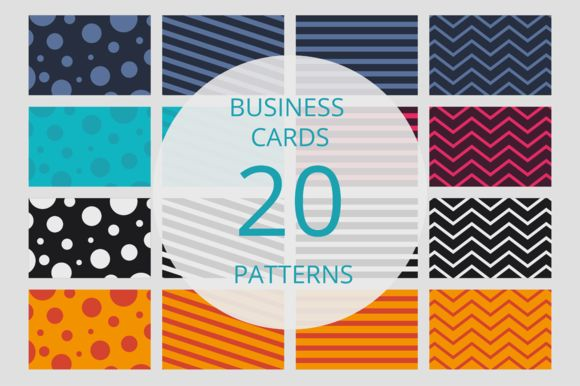 Business card pattern set by LarisaDeac on @creativemarket