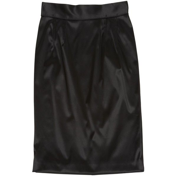 Pre-owned Dolce & Gabbana Mid-Length Skirt ($164) ❤ liked on Polyvore featuring skirts, black, dolce gabbana skirt and mid length skirts