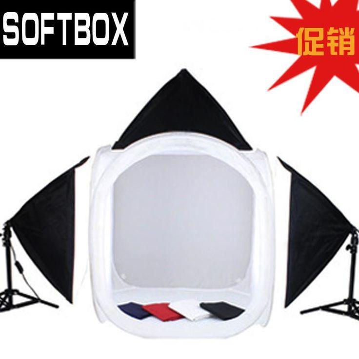Adearstudio CD50  softbox kit 80cm photo light box light softbox photography light set 4 background min studio tent for seller