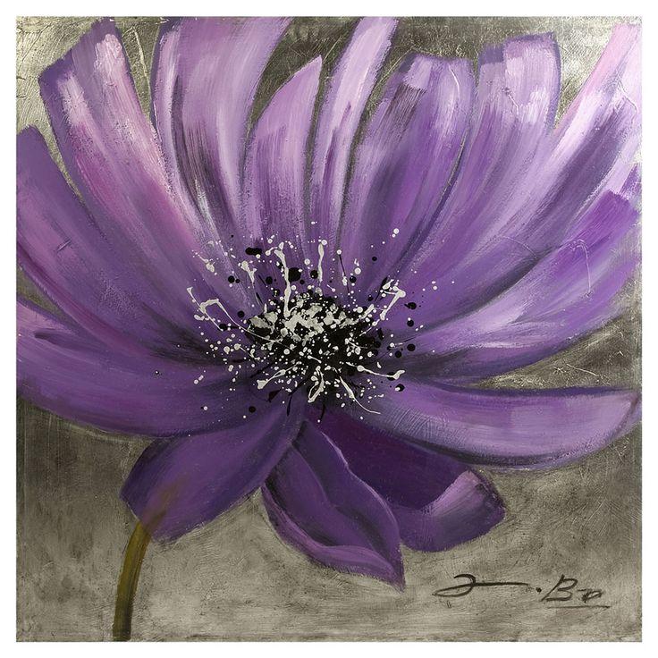i love the flower's Pollock-esque center :)