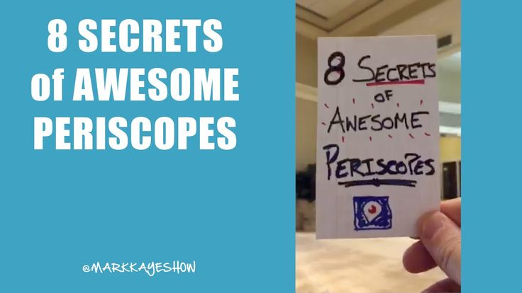 8 Secrets of Awesome Periscope App LIVE Streams from Twitter