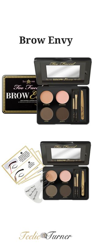 Fool-proof kit filled with all the essentials you need to have your brows arched, defined and framed like a star! www.teelieturner.com #brows