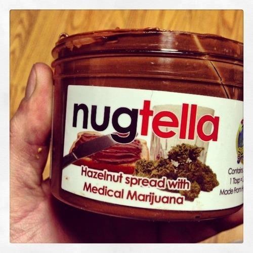 Hazelnut Spread with Marijuana #sugar #candy #sweets #nutella #marijuana #drugs #High #SUPERHIGH