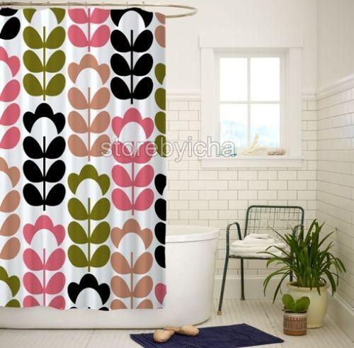 Orla-Kiely-Inspirate-High-Quality-Bathroom-Shower-Curtain-60x72-Inch