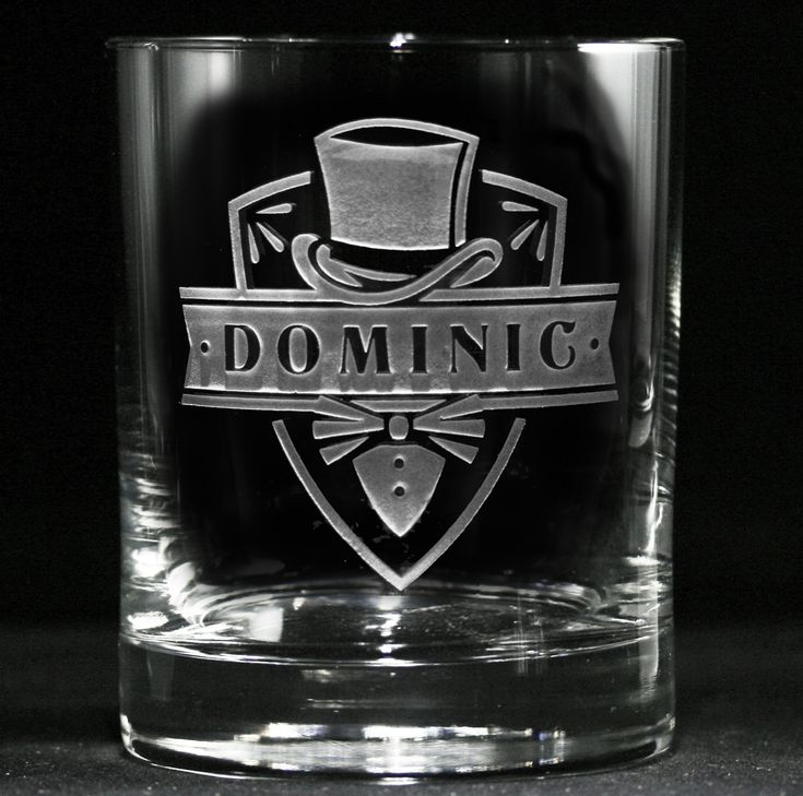Groomsmen rocks glasses engraved with our unique tuxedo and top hat design are etched with your best man's or groomsmen's names to make a truly unique personalized gift idea for groomsmen and the entire wedding party. Consider giving these cool groomsmen whiskey glasses at the bachelor party to use throughout the night and then to be kept as a memorable keepsake gift.