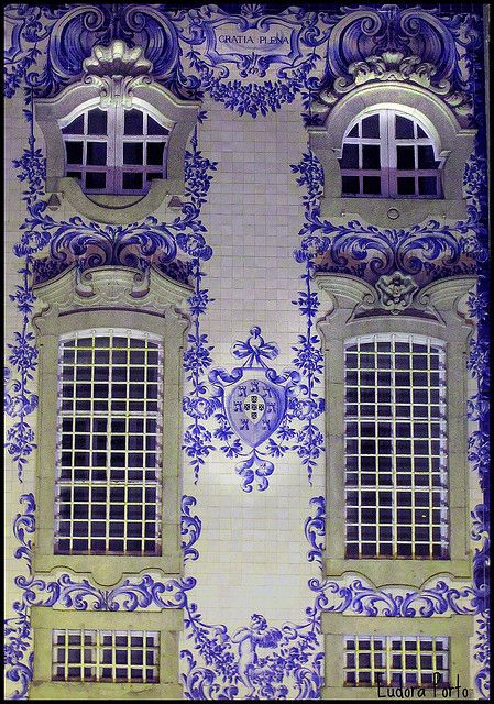 Windows of the Church of the Carmelite Order, Porto, Portugal