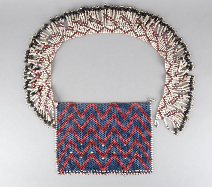 Young maiden's beaded puberty apron with fringed belt. Xhosa people, Eastern Cape, South Africa. Early 1900's.British museum collection.