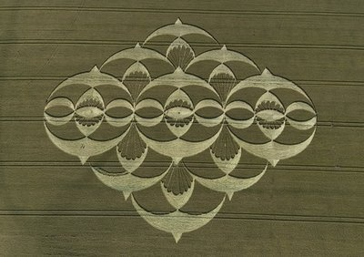 The Many Swallows Crop Circle South Field, Alton Priors, Wiltshire. Reported on the 22nd of July, 2008.