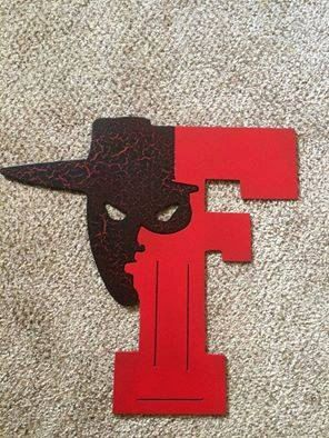 Texas Tech Red Raider Metal Decor by MagicNMetal on Etsy