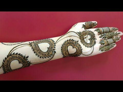 valetine's special mehndi for hands | heart shape henna design 2018 - YouTube