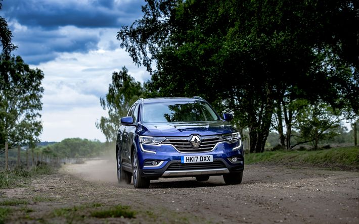 Download wallpapers Renault Koleos, 4k, offroad, 2018 cars, crossovers, new Koleos, french cars, Renault