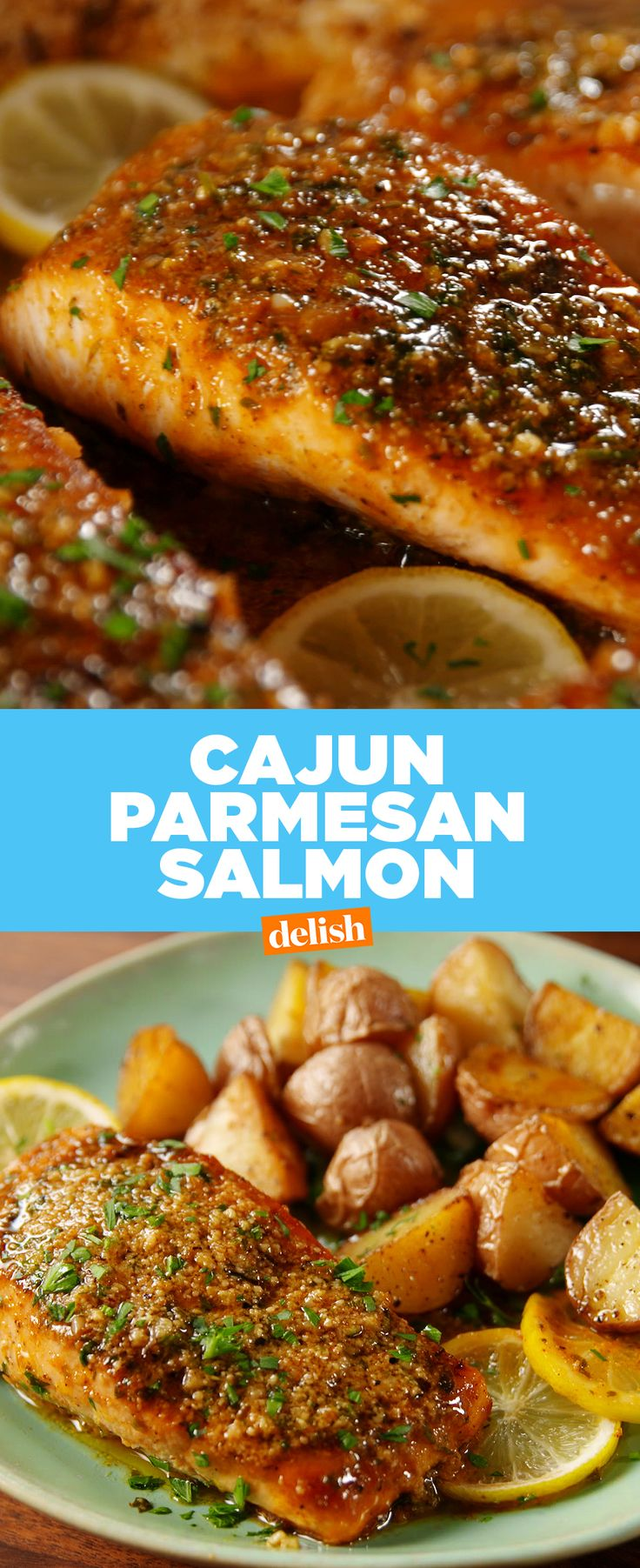 Cajun Parmesan Salmon is full of all your favorite flavors. Get the recipe from Delish.com.