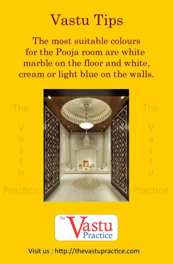 The Most Suitable Colours For The Pooja Room Are White Marble On