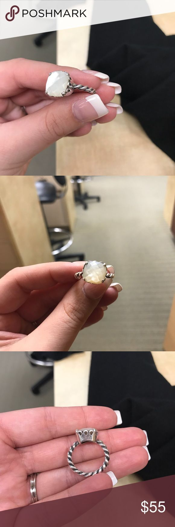 Pandora Mother of Pearl ring. Size 7 Used, but still in good shape! Make an offer! Pandora Jewelry Rings
