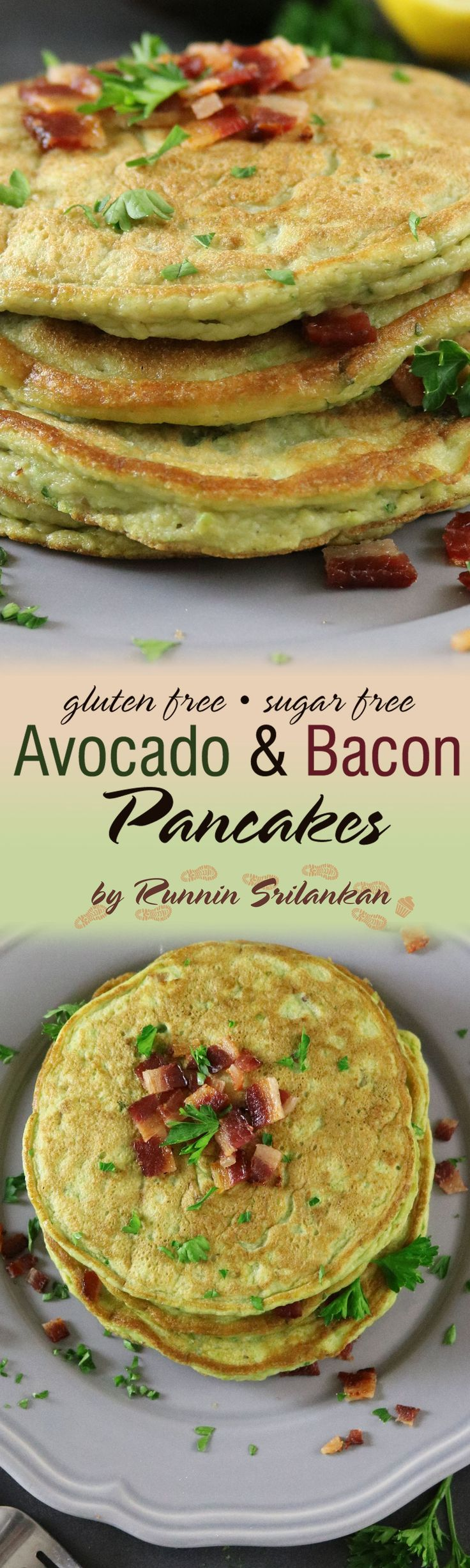 Avocado & Bacon Pancakes - The recipe for these delicious, gluten free…