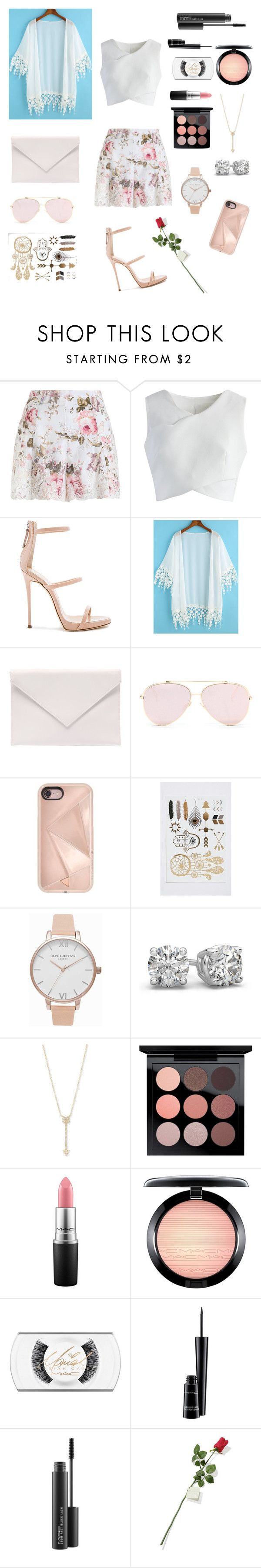 """Untitled #250"" by natalyholly on Polyvore featuring Zimmermann, Chicwish, Giuseppe Zanotti, Verali, Rebecca Minkoff, Olivia Burton, EF Collection, MAC Cosmetics and Hanky Panky"