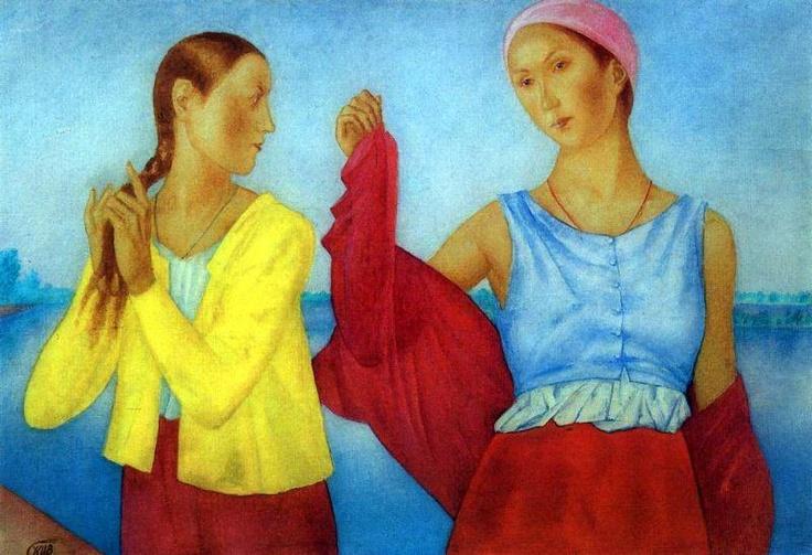 Петров-Водкин, Две девушки