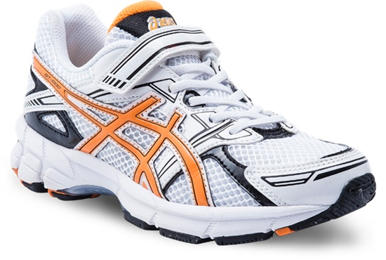 GT-1000 PS with Velcro  White/Orange/Black  Available in sizes 10 - 3
